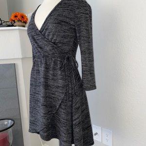 New heathered black and gray dress